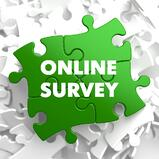 Online Survey on Green Puzzle on White Background..jpeg