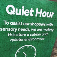 Supermarket quiet hour